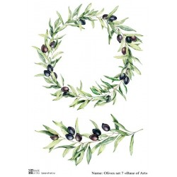 Декупажная карта Olives set 7