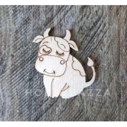 Брошка (значок) Коровка