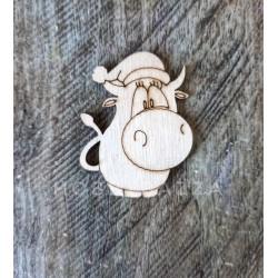 Брошка (значок) Коровка в шапке