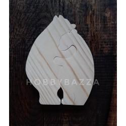 Пазл деревянный Влюбленные мишки, купить