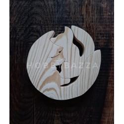 Пазл деревянный Лисята, купить