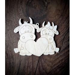 Подвеска Влюбленные коровы ( символ года)