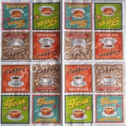 Салфетка для декупажа Ретро чай и кофе