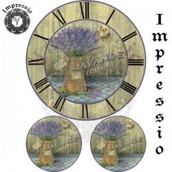 Декупажная карта 16502 Лаванда часы
