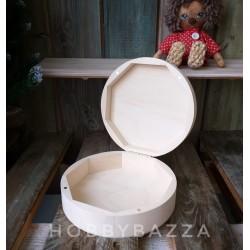 Шкатулка круглая 20*6,5 см (липа), купить