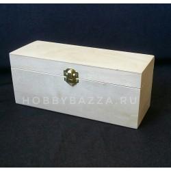 Коробка под чай на 3 деления с замочком