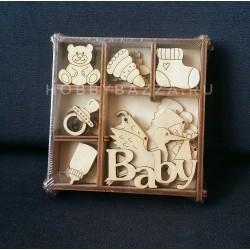 Набор декоратичных элементов Малыш 11*11 см